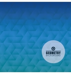 Geometry blue background design vector