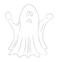 ghost for halloween drawing lines vector image