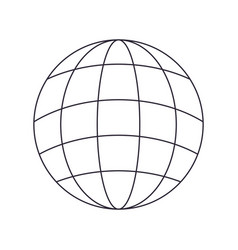Globe with lines isolated icon vector