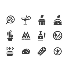 Glyph design icons for mexican food vector image