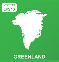 Greenland map icon business concept greenland vector