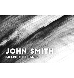 Hand drawn business card for graphic designer vector