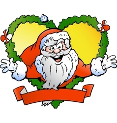 Hand-drawn of an Welcoming Santa Claus vector image