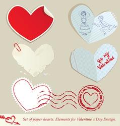 hearts paper 2 380 vector image vector image