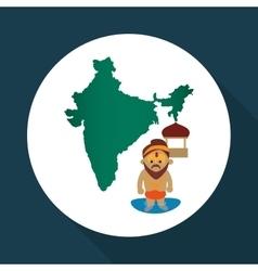India design Culture concept white background vector