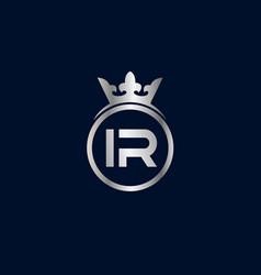initial letter ir logo template design vector image
