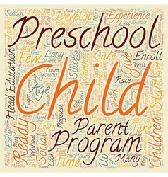 Is Your Child Ready For Preschool text background vector