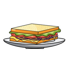 Isolated sandwich design vector