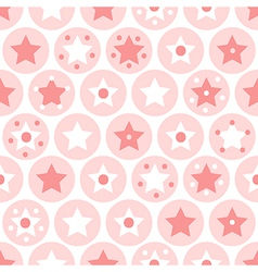 Kids seamless pattern on white background vector image