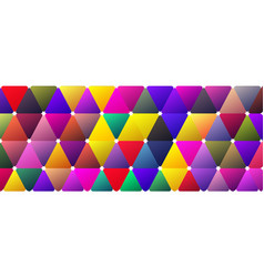 Light bright color saturated moody triangle banner vector