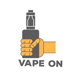 logo electronic cigarette in hand vector image