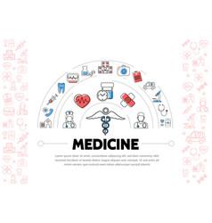 Medical treatment template vector