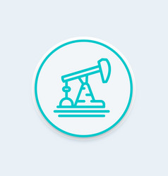 oil pump derrick line icon vector image
