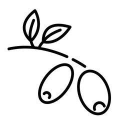 olive branch icon outline style vector image