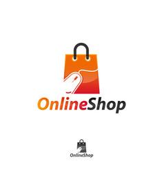 online shop logo designs template vector image