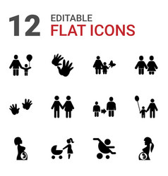 parent icons vector image