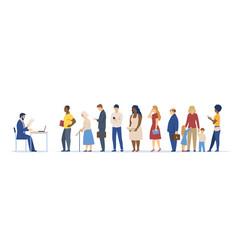 people queue concept vector image