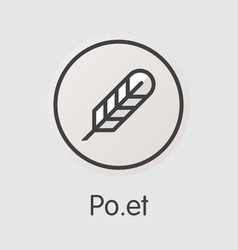 Poet virtual currency coin web icon of poe vector