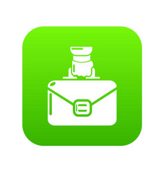 portfolio icon green vector image