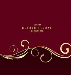 Premium luxury floral background vector image