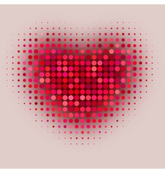 red color halftone vector image