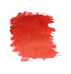 Red painted banner vector