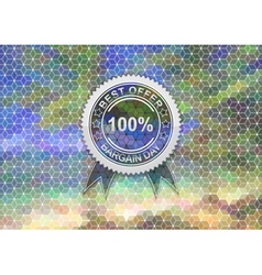 Sale label on mosaic background vector