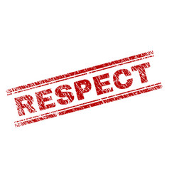 Scratched textured respect stamp seal vector