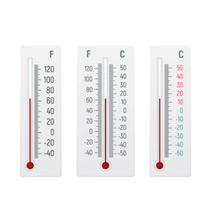 set of alcohol thermometer vector image