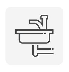 sink icon black vector image