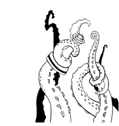 Sketch octopus tentacles sketch octopus vector