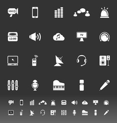 Sound icons on gray background vector image