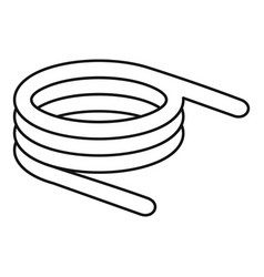spiral spring icon outline style vector image