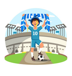 sport stadium with soccer or football fan vector image