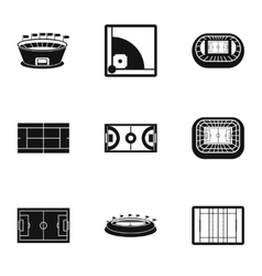 Sports complex icons set simple style vector