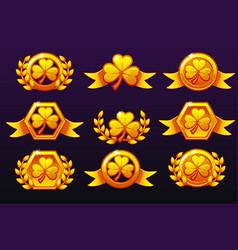 St patrick golden awards laurel wreath of victory vector