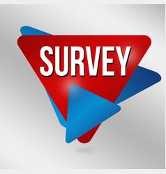 survey label or sticker vector image