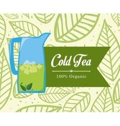 Tea time design vector