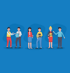team people office vector image