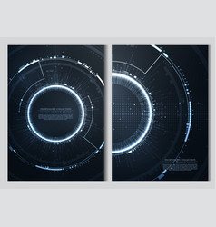 technology futuristic abstract computer system vector image