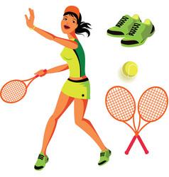 Tennis Set vector