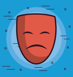 Theater sad face icon vector