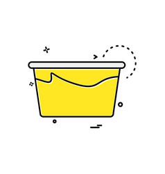 tub icon design vector image