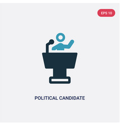 Two color political candidate speech icon from vector