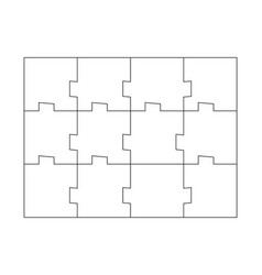 unusual abstract blank rectangle jigsaw puzzle vector image