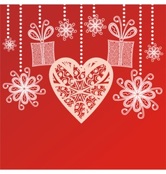 Valentines day card hearts vector