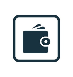 Wallet icon rounded squares button vector