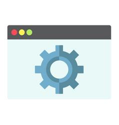 Web optimization flat icon seo and development vector