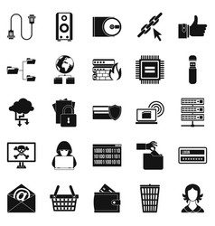 Web project icons set simple style vector