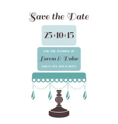 Wedding Cake Invitation - Save the Date vector image